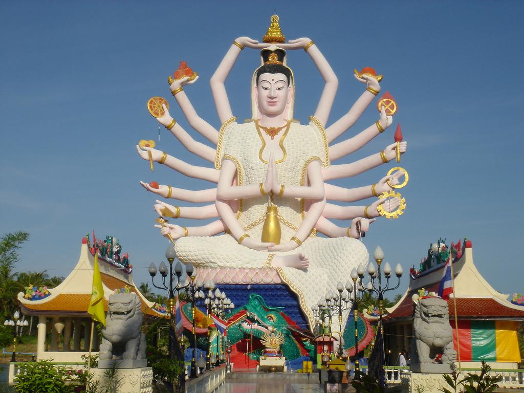 准胝観世音菩薩_Statue Of Eighteen Arms Buddha (1)