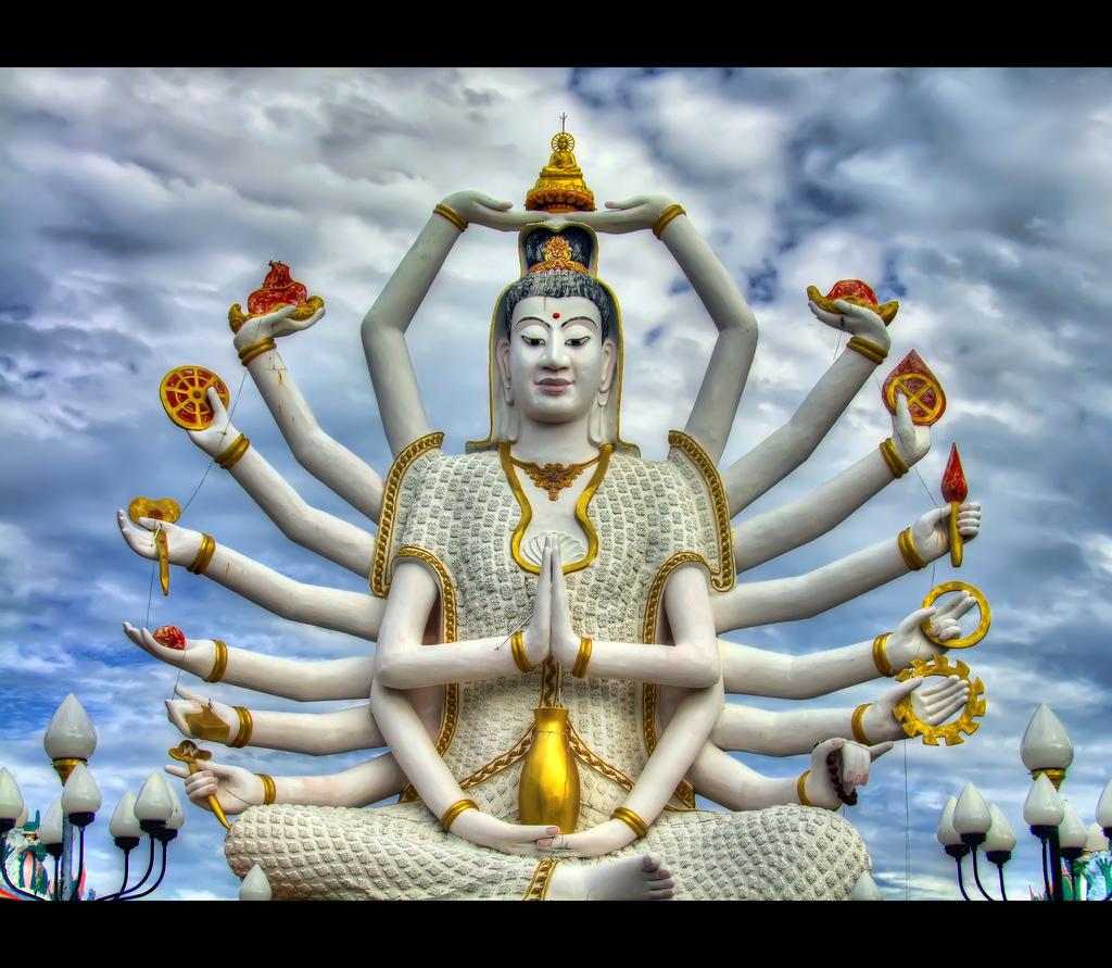 准胝観世音菩薩_Statue Of Eighteen Arms Buddha (4)