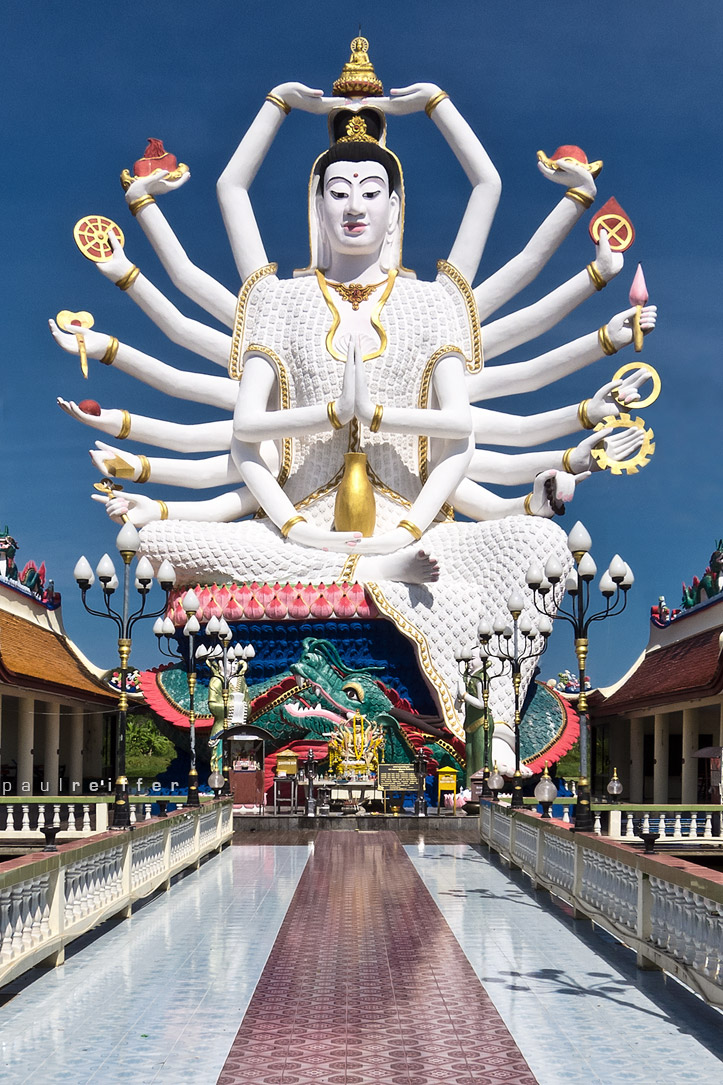 准胝観世音菩薩_Statue Of Eighteen Arms Buddha (8)