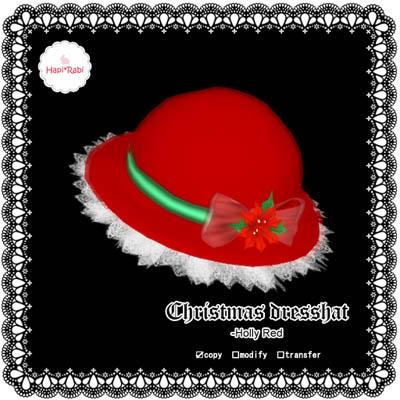 Christmas dresshatHollyRedAD