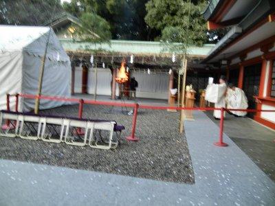 違う場所で、鎮火祭