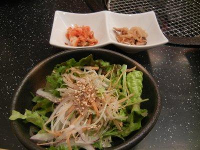 前菜とサラダ