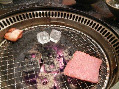 火の調整・氷を使って