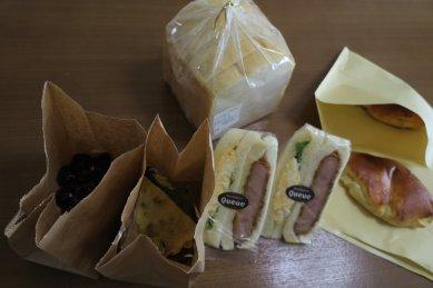 Queueのパン(菓子パン・クリームパン、サンド・ハムカツサンド、食パン等)