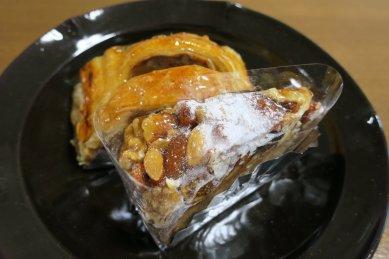 フルーツケーキ&アップルパイon天目釉皿