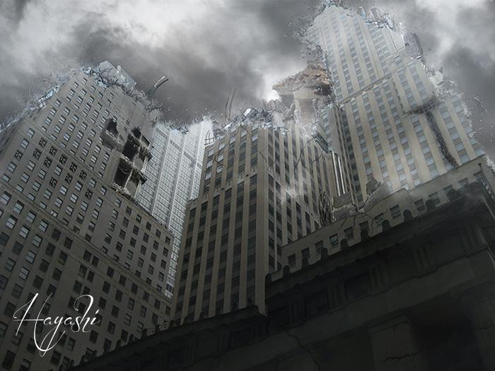崩壊ビル700