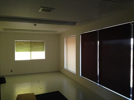 新社屋ロールカーテン