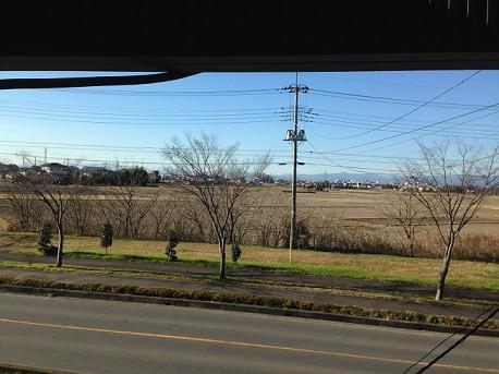 川越窓から富士山