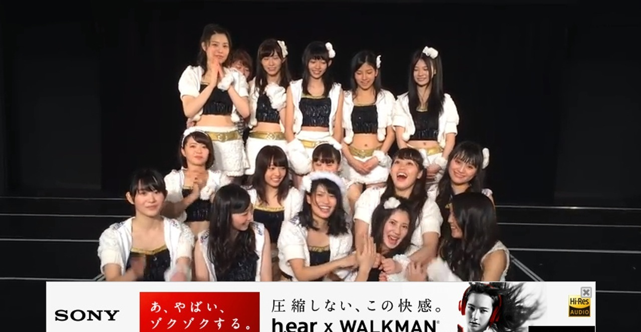 SKE48の公演でパンチラして自前パンツ丸見えの東李苑