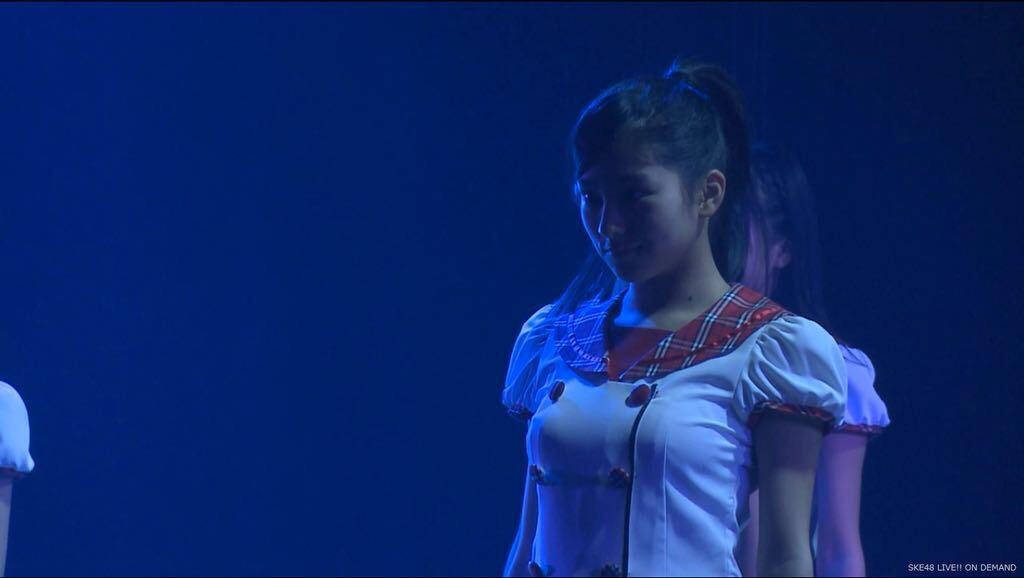 公演で乳首が透けてるSKE48のJC、後藤楽々