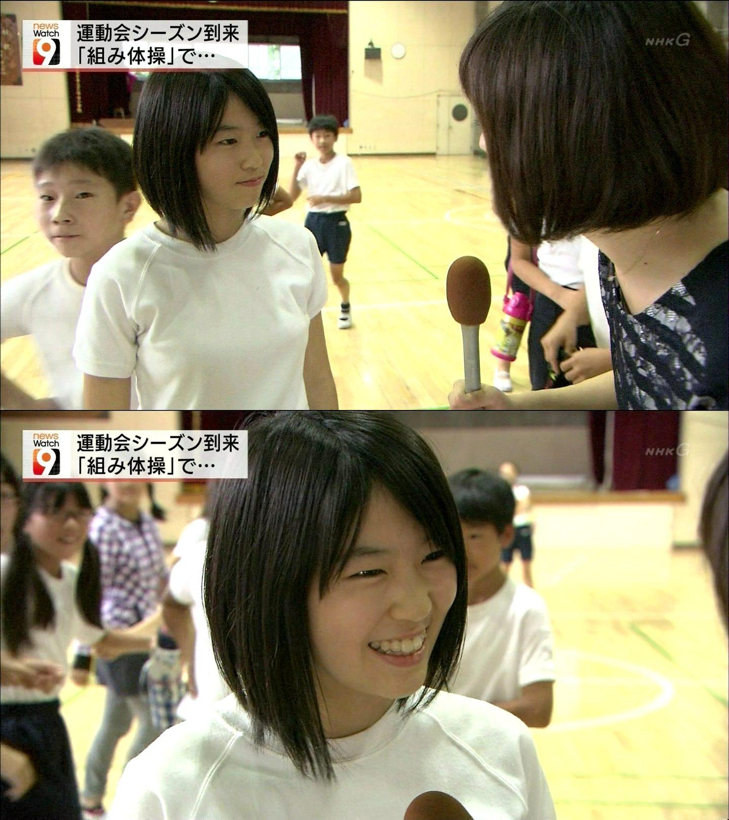 NHK「NHKニュースウオッチ9」でインタビューに答えた可愛すぎる女子小学生