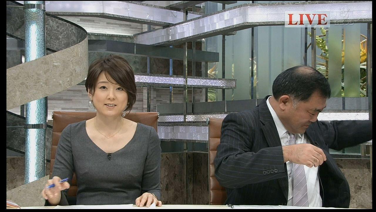 ニュース番組で乳首ポチしてるフジテレビの秋元優里アナ