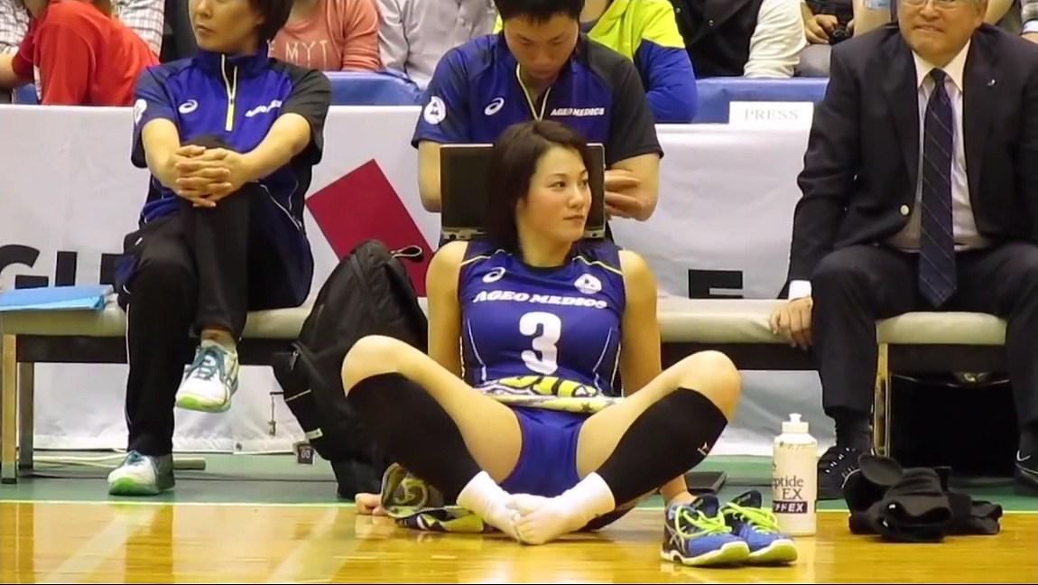 女子バレー選手、吉村志穂の肉体