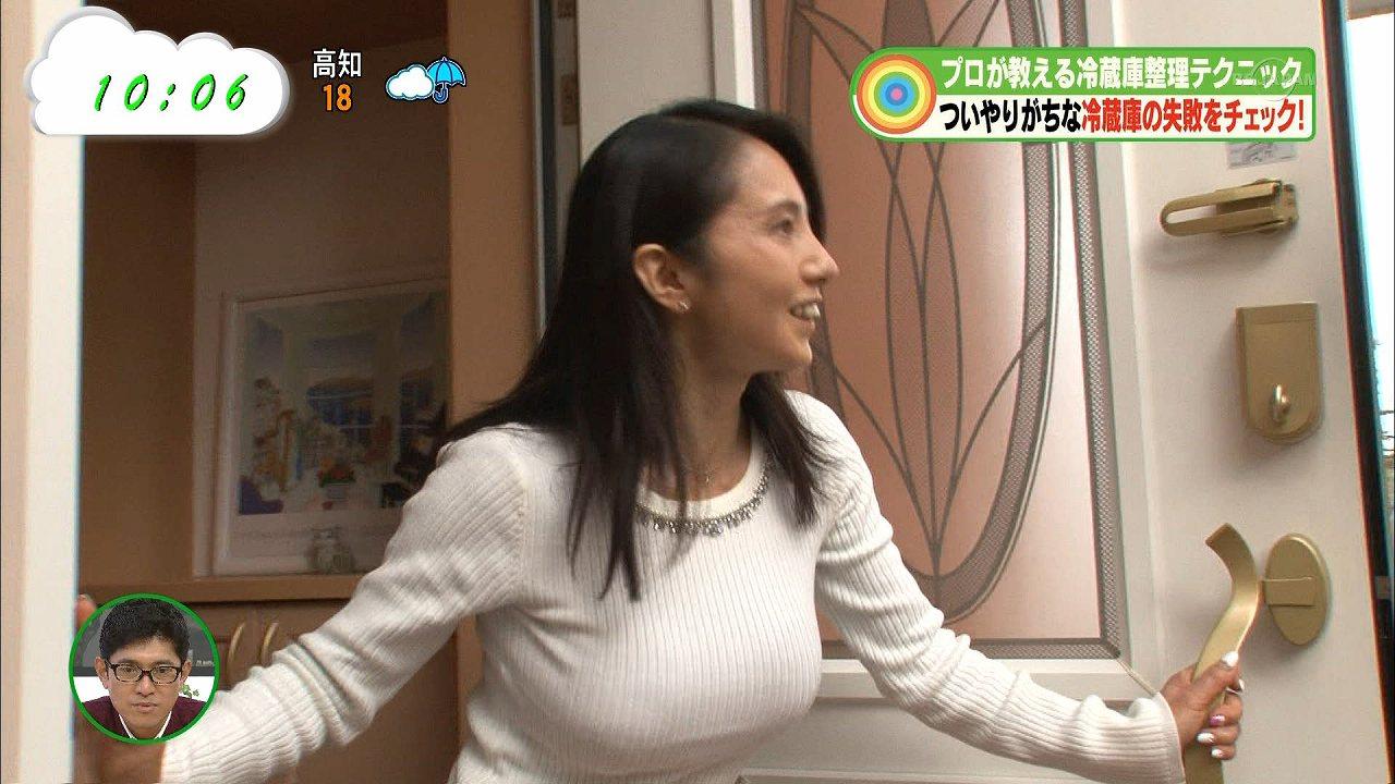 テレ東「なないろ日和!」冷蔵庫整理特集に出演した爆乳人妻