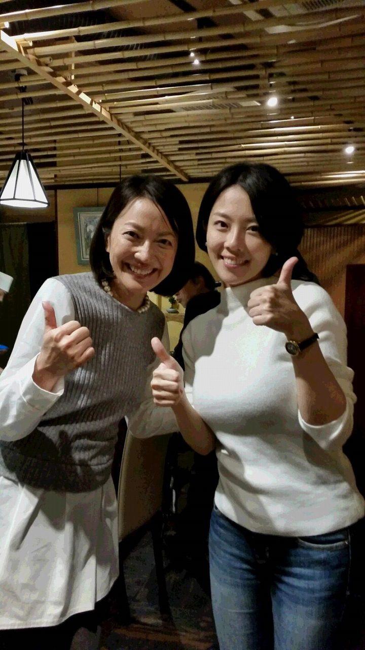 羽田美智子と爆乳でニットを着た大和田美帆のツーショット