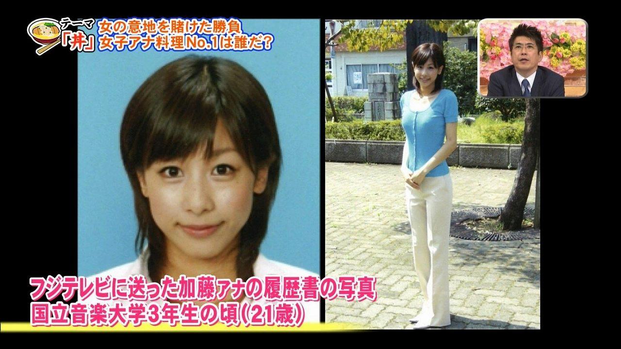 加藤綾子がフジテレビに送った履歴書の写真