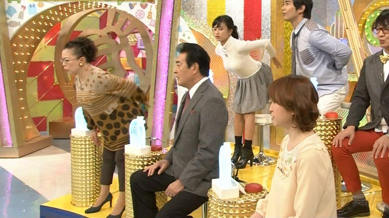 NHK「ためしてガッテン」かなえてガッテンSPにニットで出演した小島瑠璃子の着衣おっぱい