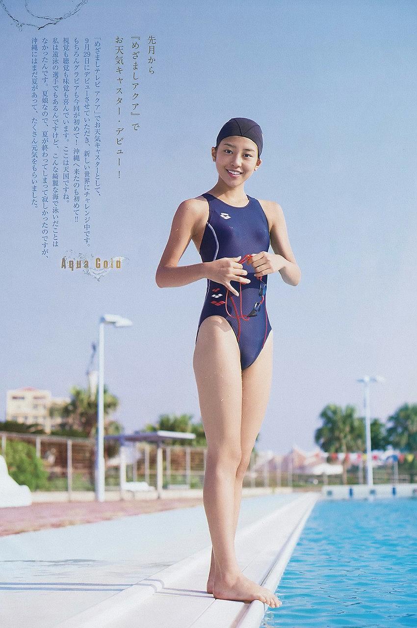 岡副麻希の競泳水着グラビア