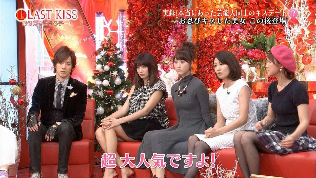 ニットワンピースを着ておっぱいの形がくっきり浮き出た松井玲奈