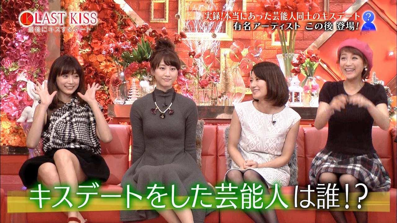 ニットワンピースを着た松井玲奈のニット着衣おっぱい