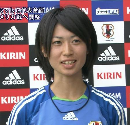 女子サッカーの田中陽子選手