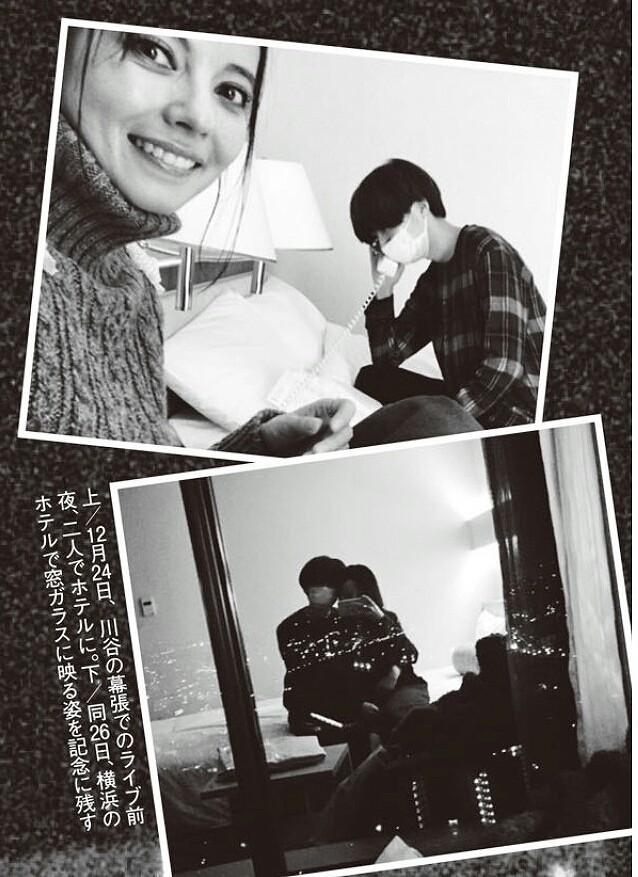 ベッキーが撮ったゲスの極み乙女・川谷絵音と自分の姿(週刊文春の記事画像、12月24日にホテルで過ごすベッキーと川谷)