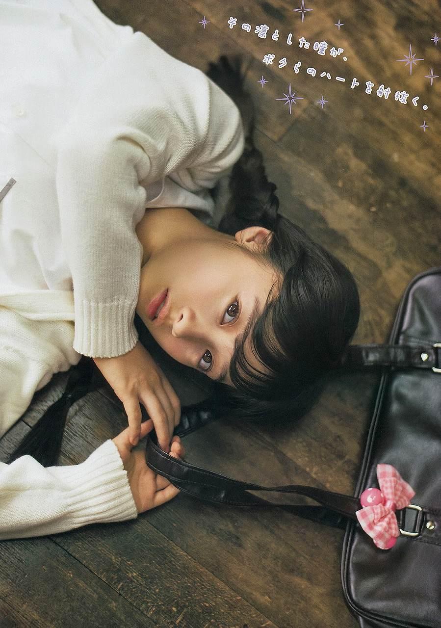 「ヤングマガジン 2015年 1/1号」、橋本環奈のグラビア