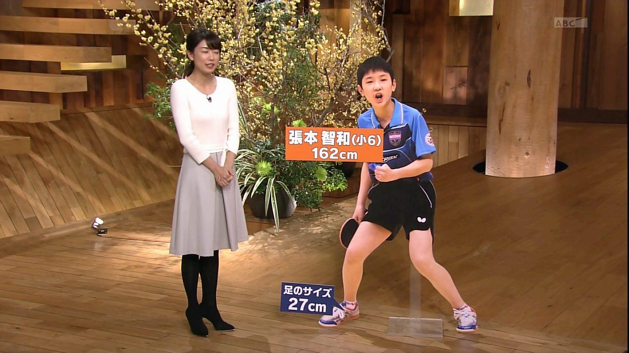 「報道ステーション」でニットを着た青山愛アナの着衣おっぱい