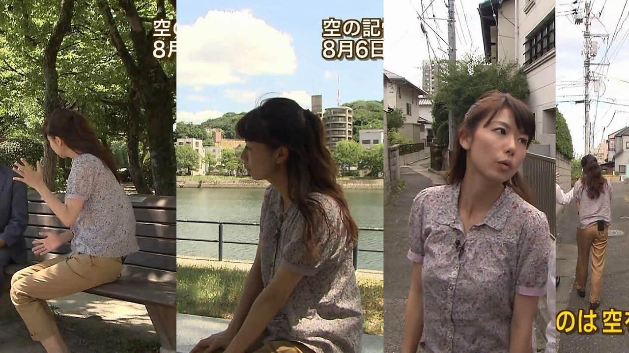 青山愛アナの着衣巨乳
