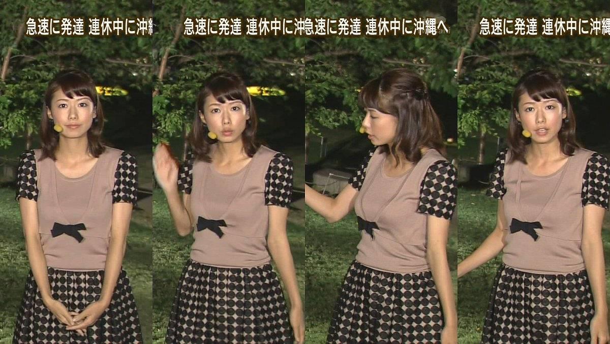 青山愛アナの着衣おっぱい