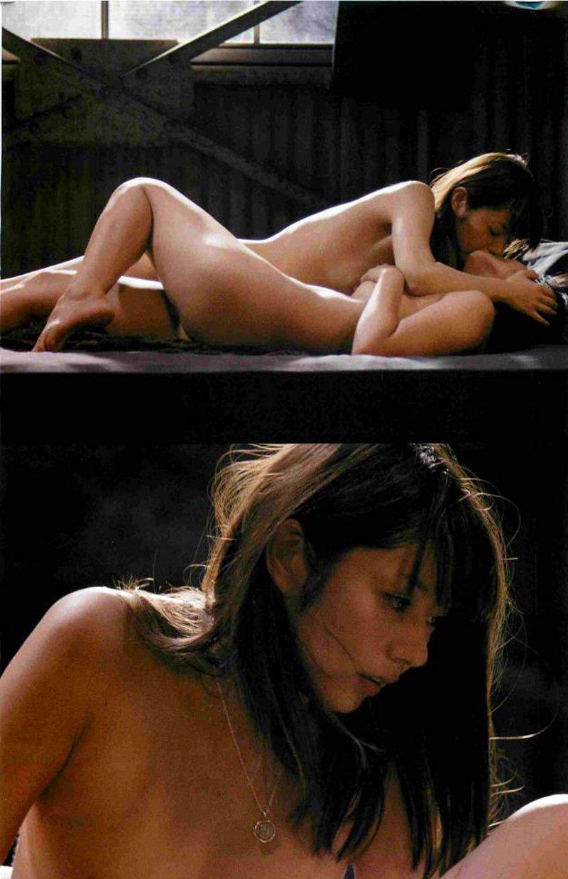 映画「赤×ピンク」の濡れ場、芳賀優里亜の乳首おっぱい丸出し濡れ場