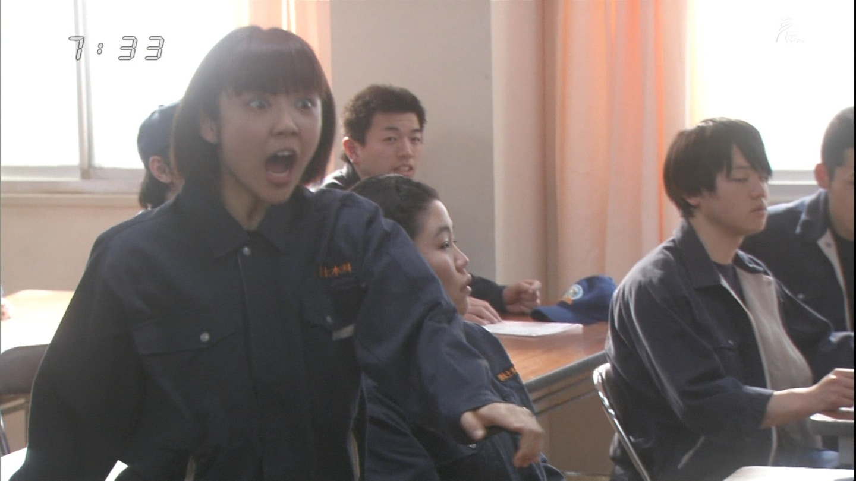 NHK朝の連続テレビ小説「あまちゃん」に出ている山谷花純(キャプチャ画像)