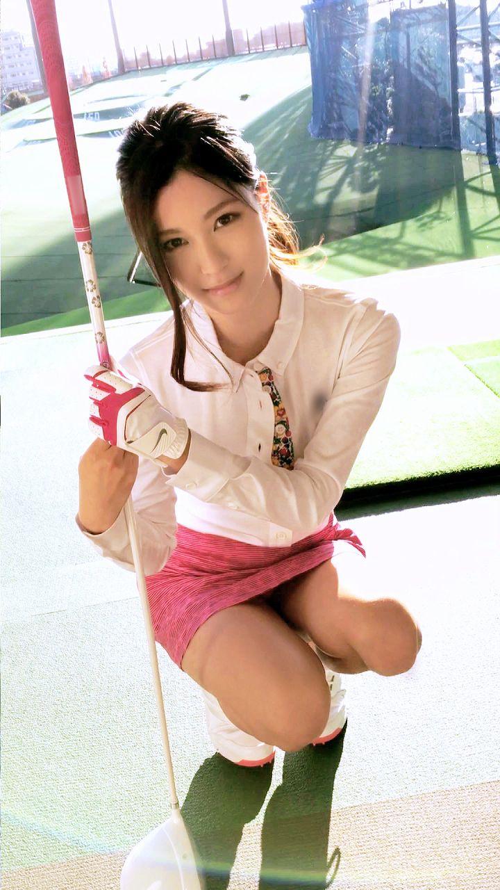 ゴルフの打ちっぱなしで美女をガチナンパするAV、キャプチャ画像
