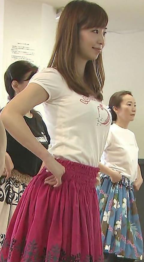 塩地美澄アナの着衣巨乳