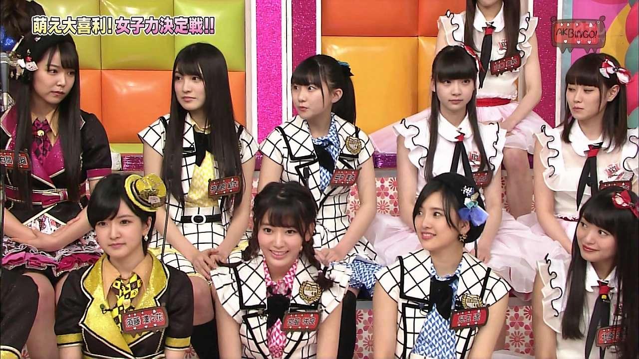 「AKBINGO!」でひな壇に座るNGT48・荻野由佳