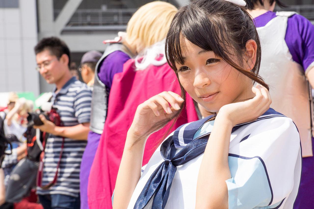 JCコスプレイヤー・東雲りぃりのスクール水着セーラー服コスプレ