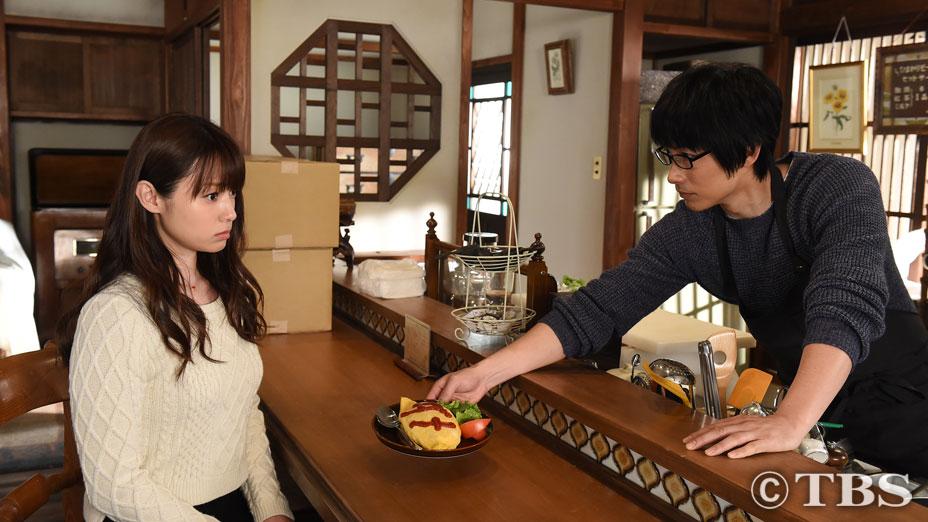 ドラマ「ダメな私に恋してください」でニットを着た深田恭子の着衣巨乳