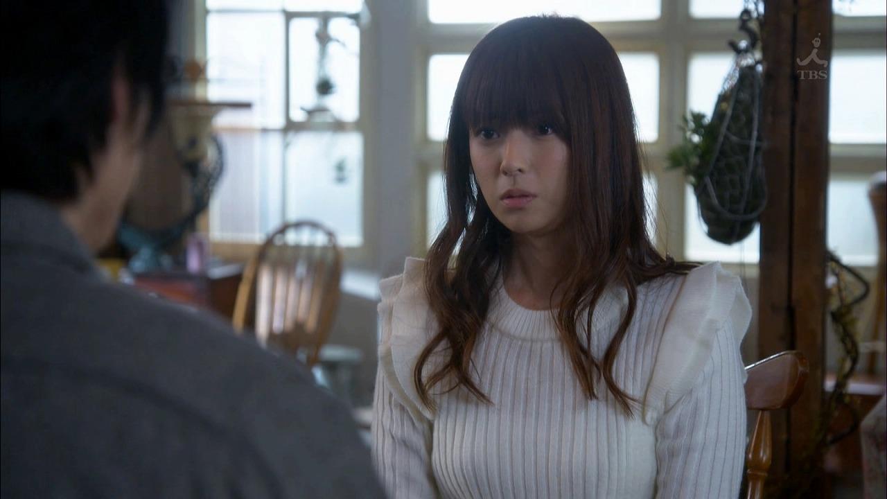 ドラマ「ダメな私に恋してください」でニットを着た深田恭子のニット着衣巨乳