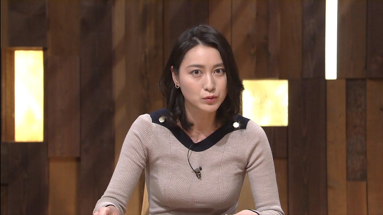 テレ朝「報道ステーション」、小川彩佳アナの着衣巨乳