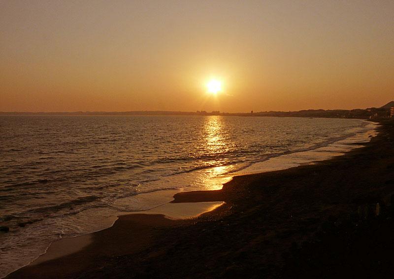 081230野比海岸夕陽1