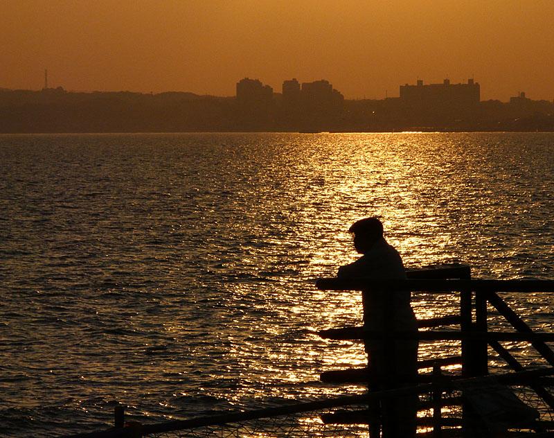 081230野比海岸夕陽2