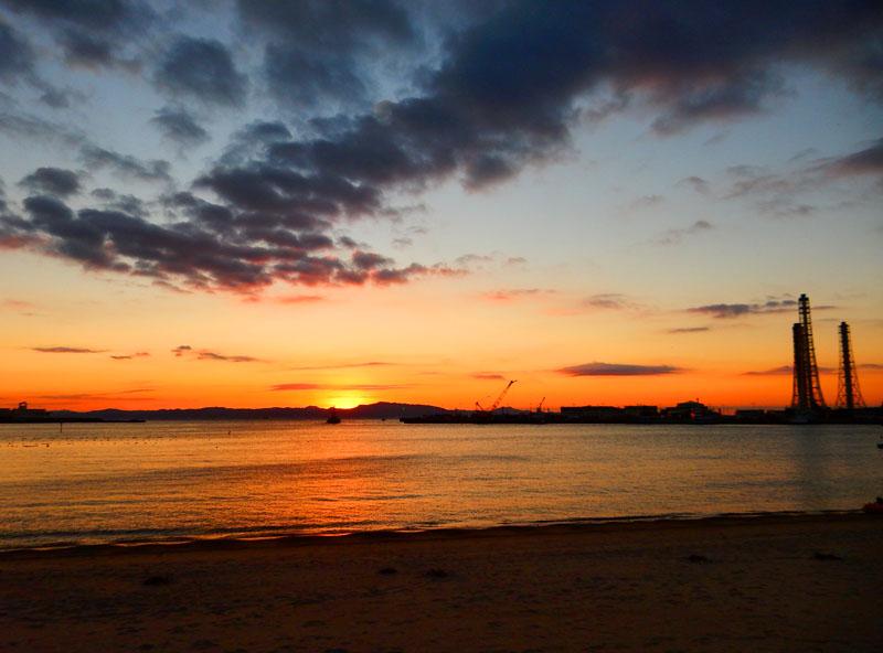 久里浜港からの日の出1