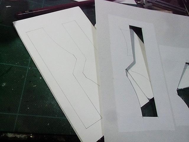 型紙とパーツ作り