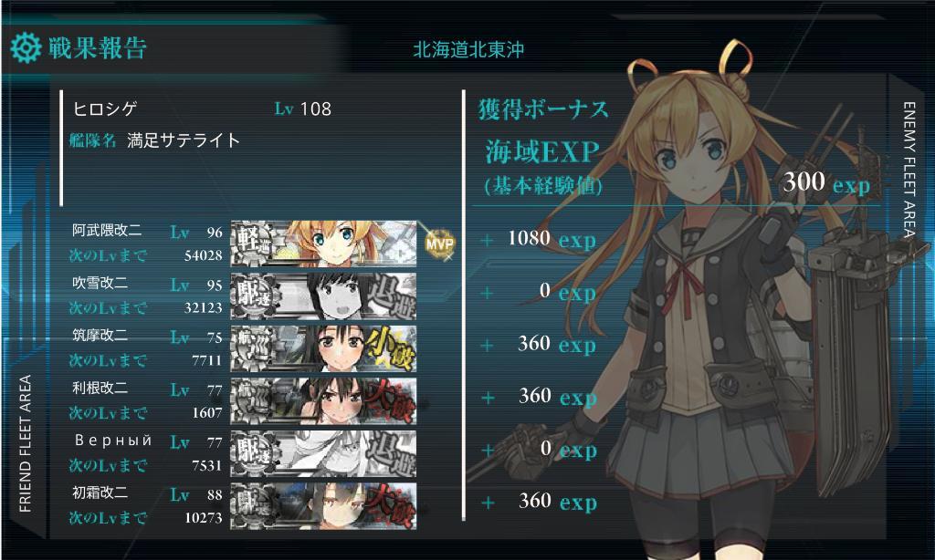 艦これ16冬イベE-3甲 輸送ゲージ突破編成2