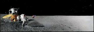 月面でゴルフ