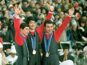 札幌オリンピックジャンプ表彰台独占