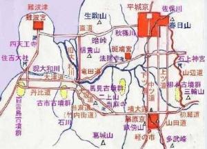 藤原京の位置
