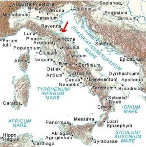 ルビコン川の位置