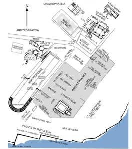 戦車競技場と宮殿の位置