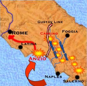 「アンツィオの戦い」地図